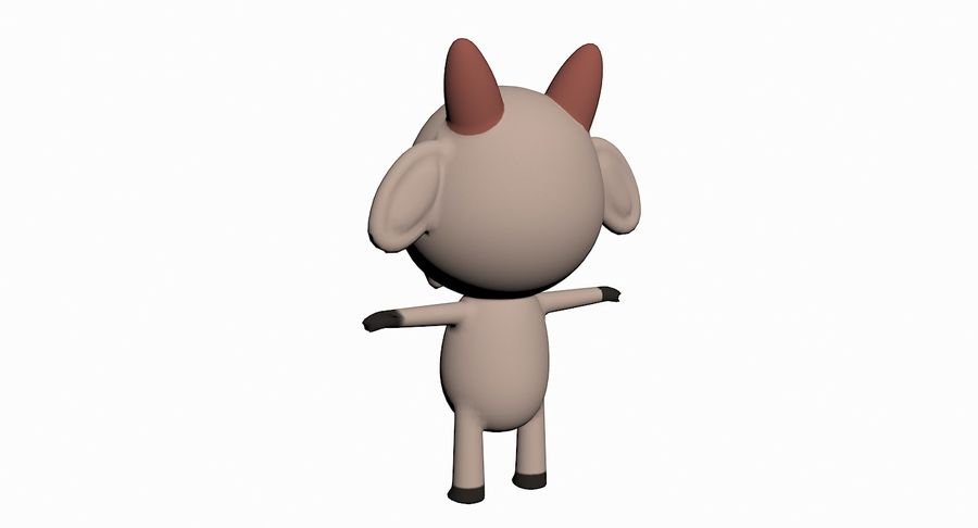 Cartoon Animal Character Pack royalty-free 3d model - Preview no. 44