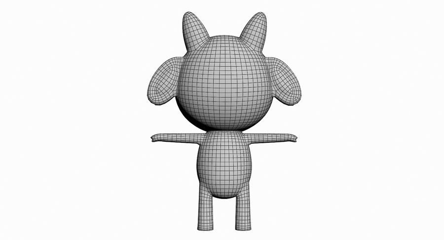 Cartoon Animal Character Pack royalty-free 3d model - Preview no. 55