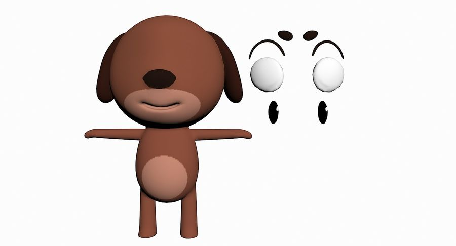 Cartoon Animal Character Pack royalty-free 3d model - Preview no. 39