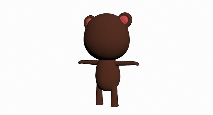 Cartoon Animal Character Pack royalty-free 3d model - Preview no. 5