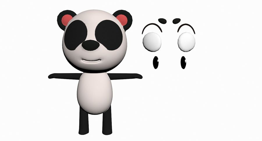 Cartoon Animal Character Pack royalty-free 3d model - Preview no. 79