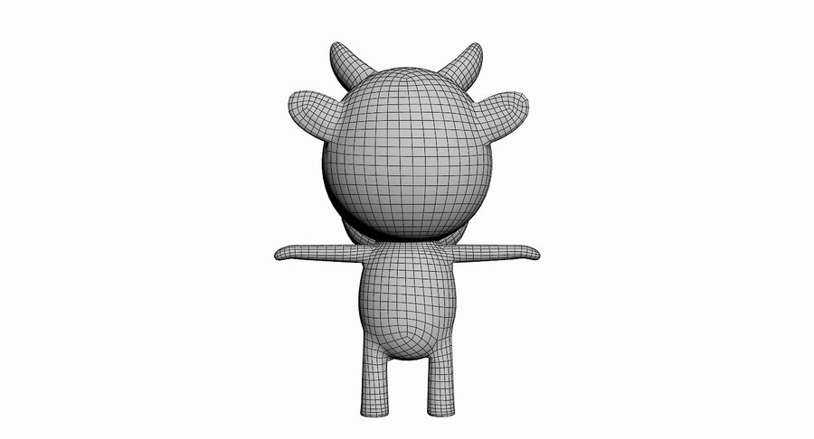 Cartoon Animal Character Pack royalty-free 3d model - Preview no. 17