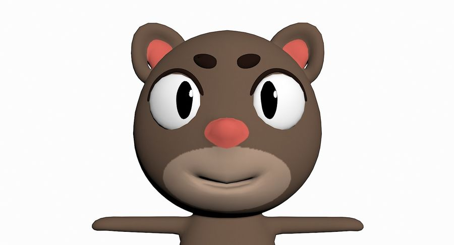 Cartoon Animal Character Pack royalty-free 3d model - Preview no. 22
