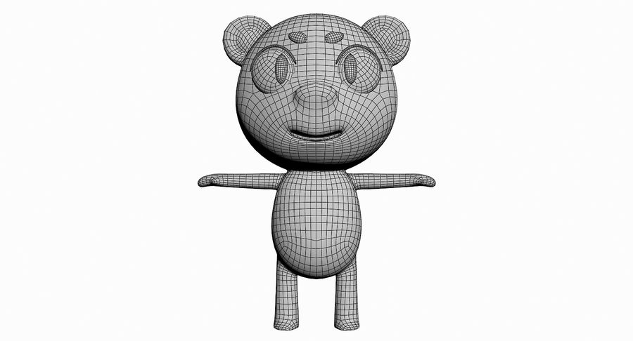 Cartoon Animal Character Pack royalty-free 3d model - Preview no. 11