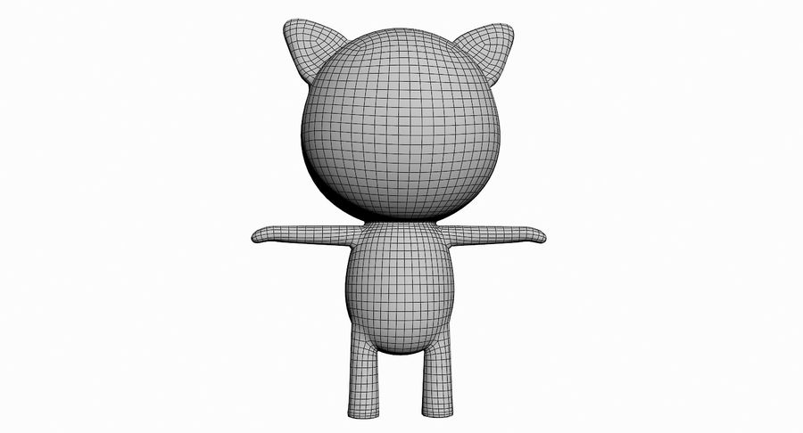 Cartoon Animal Character Pack royalty-free 3d model - Preview no. 89