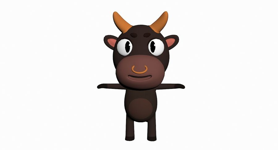 Cartoon Animal Character Pack royalty-free 3d model - Preview no. 8