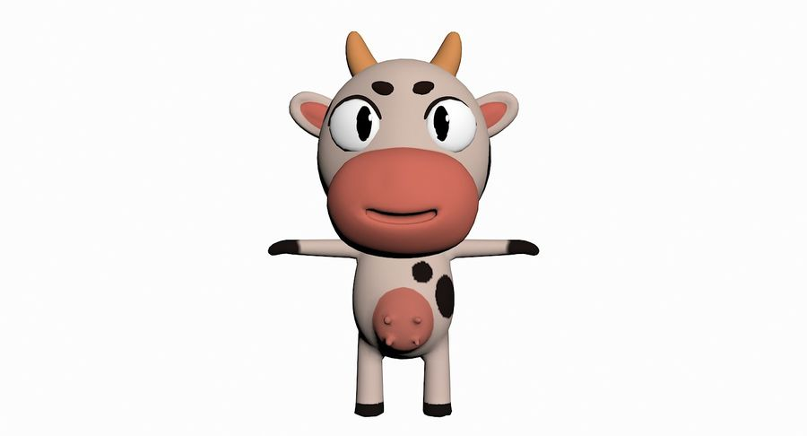 Cartoon Animal Character Pack royalty-free 3d model - Preview no. 26