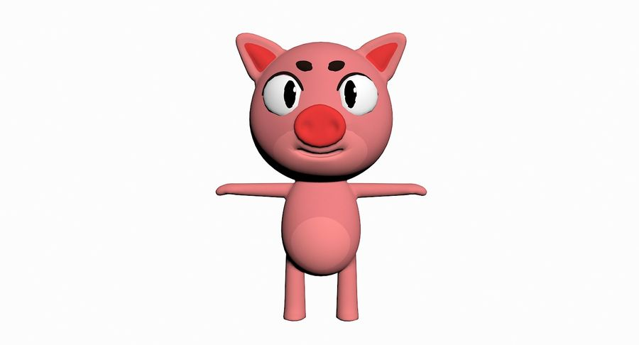 Cartoon Animal Character Pack royalty-free 3d model - Preview no. 82