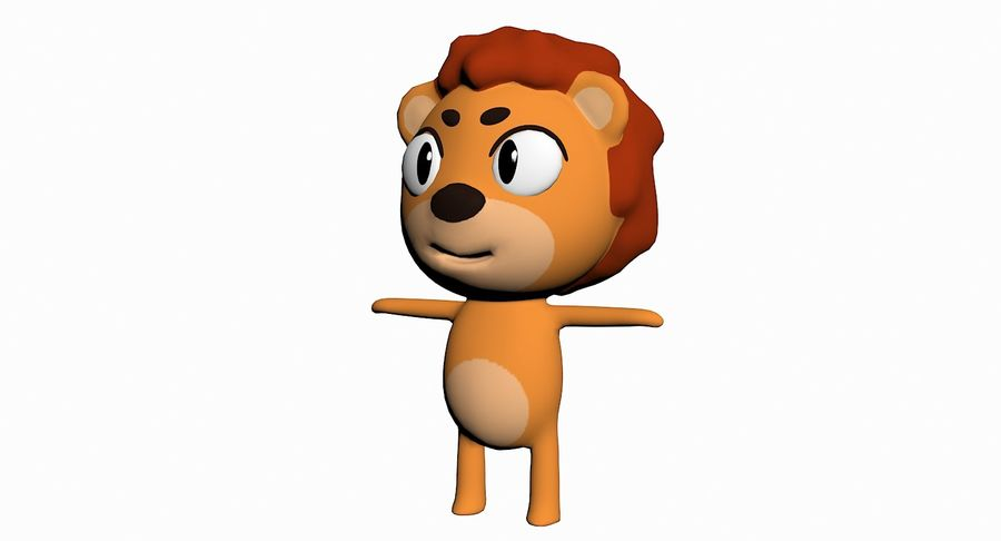Cartoon Animal Character Pack royalty-free 3d model - Preview no. 59