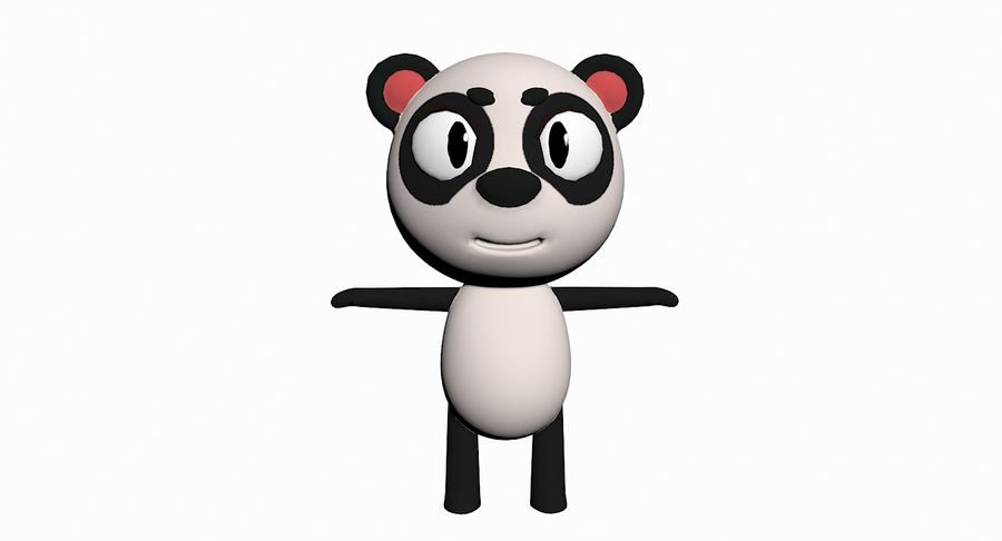 Cartoon Animal Character Pack royalty-free 3d model - Preview no. 74