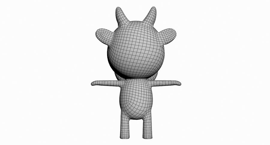 Cartoon Animal Character Pack royalty-free 3d model - Preview no. 33