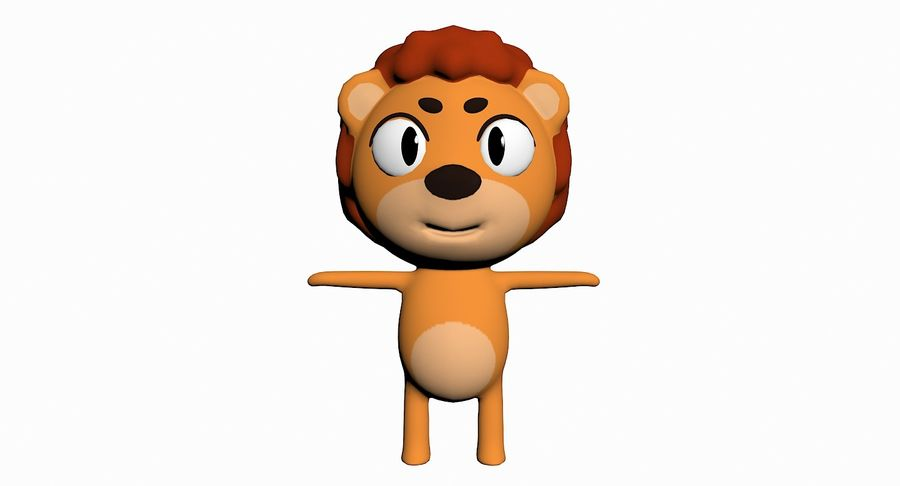 Cartoon Animal Character Pack royalty-free 3d model - Preview no. 58