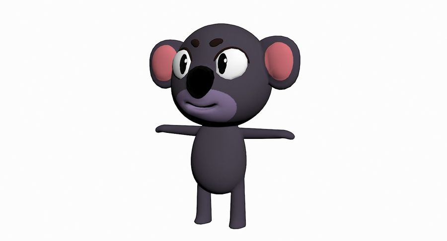 Cartoon Animal Character Pack royalty-free 3d model - Preview no. 48
