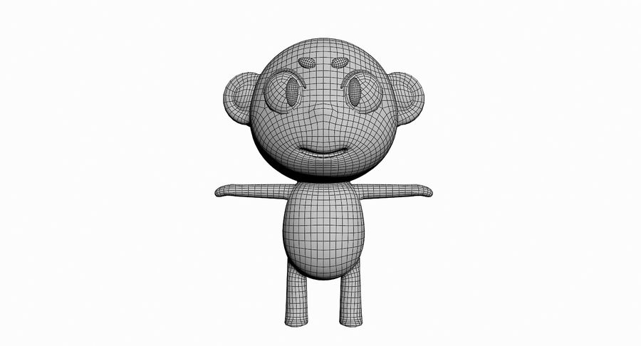 Cartoon Animal Character Pack royalty-free 3d model - Preview no. 72