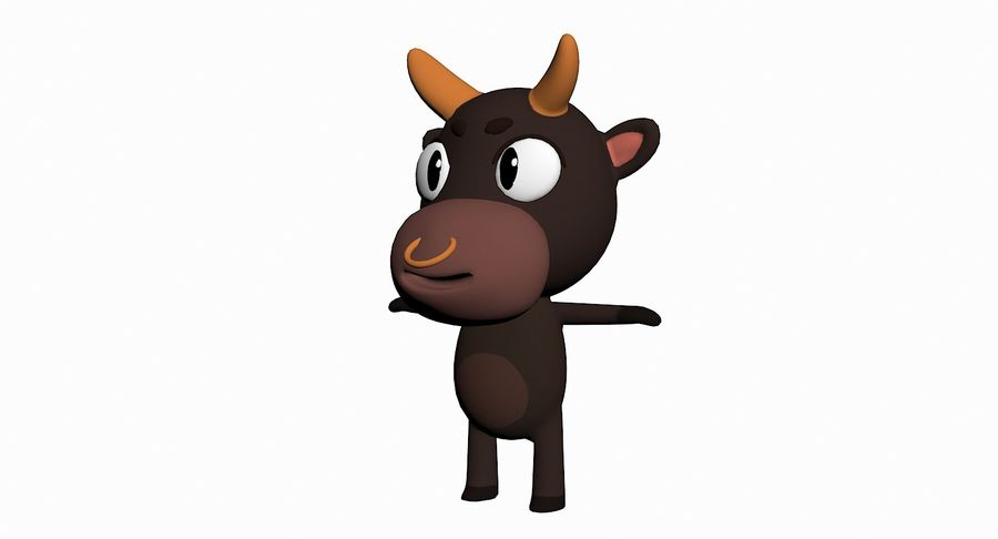 Cartoon Animal Character Pack royalty-free 3d model - Preview no. 10