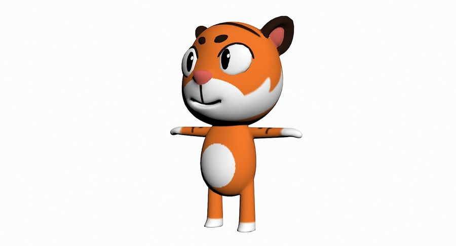 Cartoon Animal Character Pack royalty-free 3d model - Preview no. 91