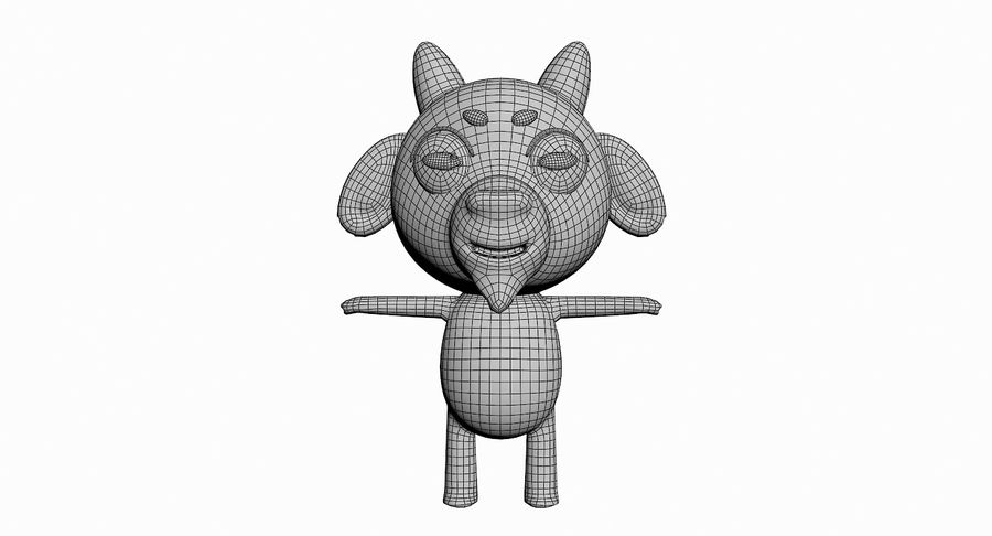 Cartoon Animal Character Pack royalty-free 3d model - Preview no. 53