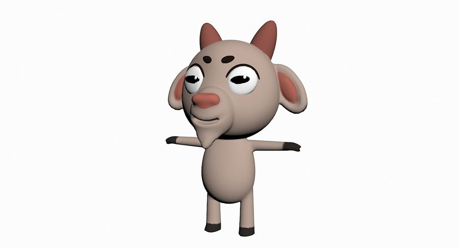 Cartoon Animal Character Pack royalty-free 3d model - Preview no. 43