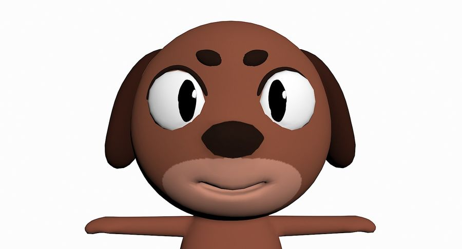 Cartoon Animal Character Pack royalty-free 3d model - Preview no. 38
