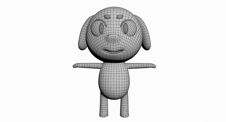 Cartoon Animal Character Pack royalty-free 3d model - Preview no. 40