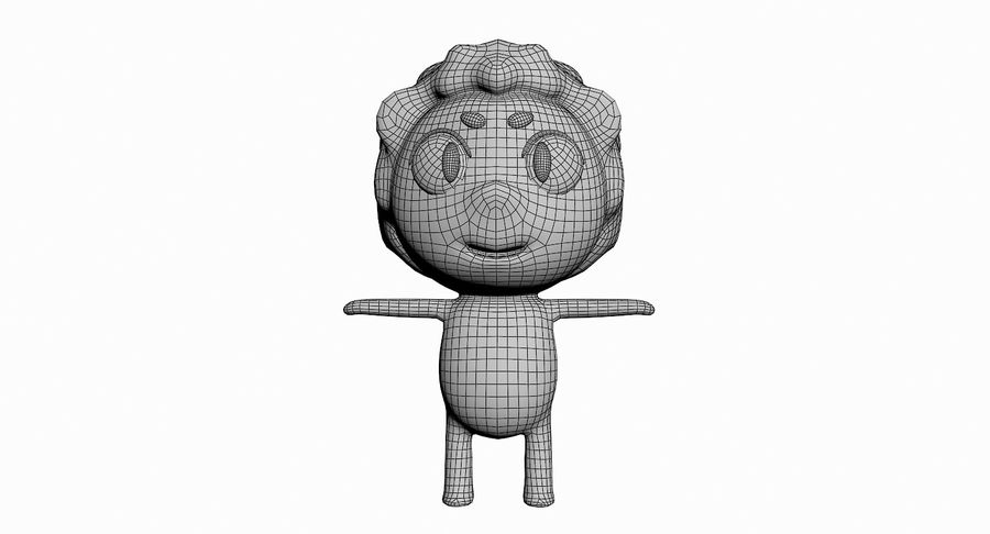 Cartoon Animal Character Pack royalty-free 3d model - Preview no. 64
