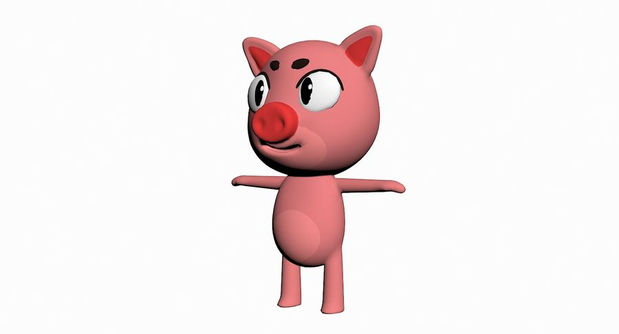 Cartoon Animal Character Pack royalty-free 3d model - Preview no. 83