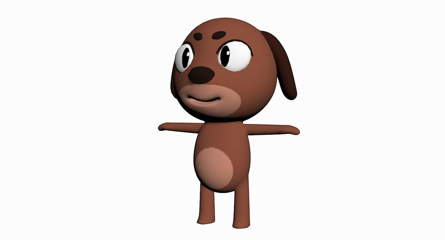 Cartoon Animal Character Pack royalty-free 3d model - Preview no. 35