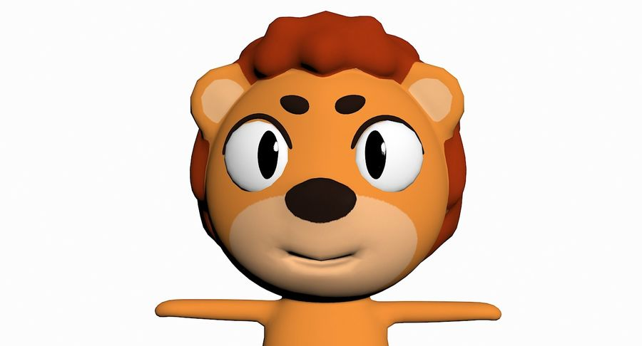 Cartoon Animal Character Pack royalty-free 3d model - Preview no. 62