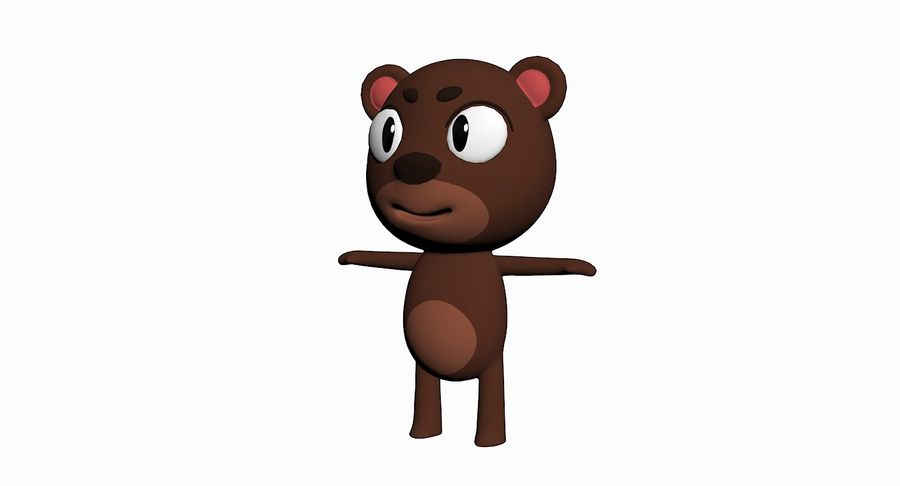 Cartoon Animal Character Pack royalty-free 3d model - Preview no. 3