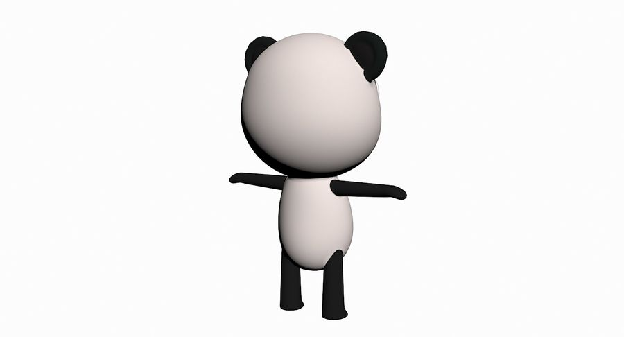 Cartoon Animal Character Pack royalty-free 3d model - Preview no. 77