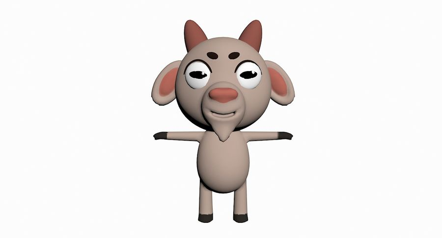 Cartoon Animal Character Pack royalty-free 3d model - Preview no. 42