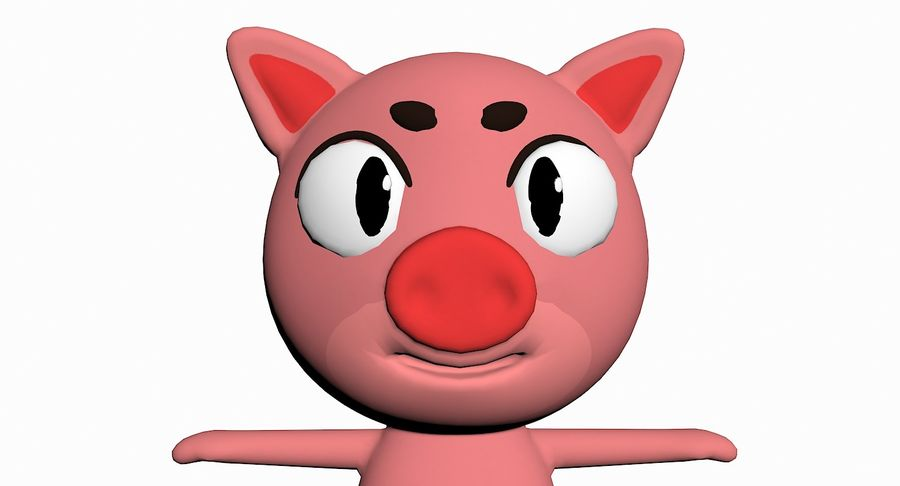 Cartoon Animal Character Pack royalty-free 3d model - Preview no. 86