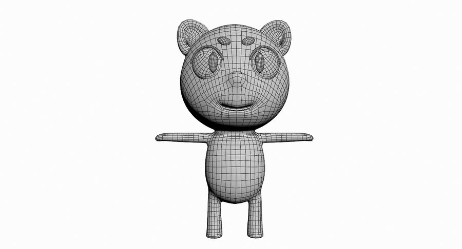 Cartoon Animal Character Pack royalty-free 3d model - Preview no. 24