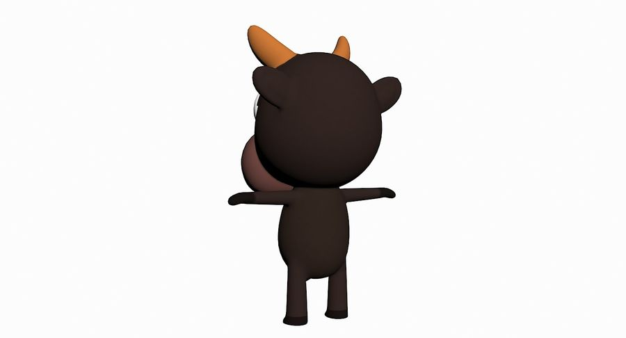 Cartoon Animal Character Pack royalty-free 3d model - Preview no. 12