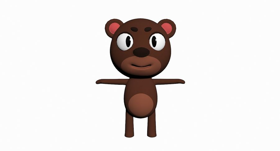 Cartoon Animal Character Pack royalty-free 3d model - Preview no. 2