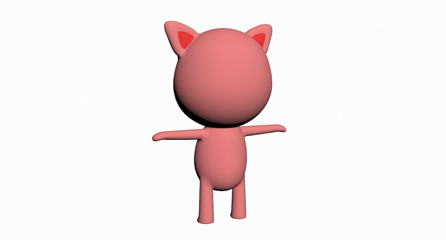 Cartoon Animal Character Pack royalty-free 3d model - Preview no. 84
