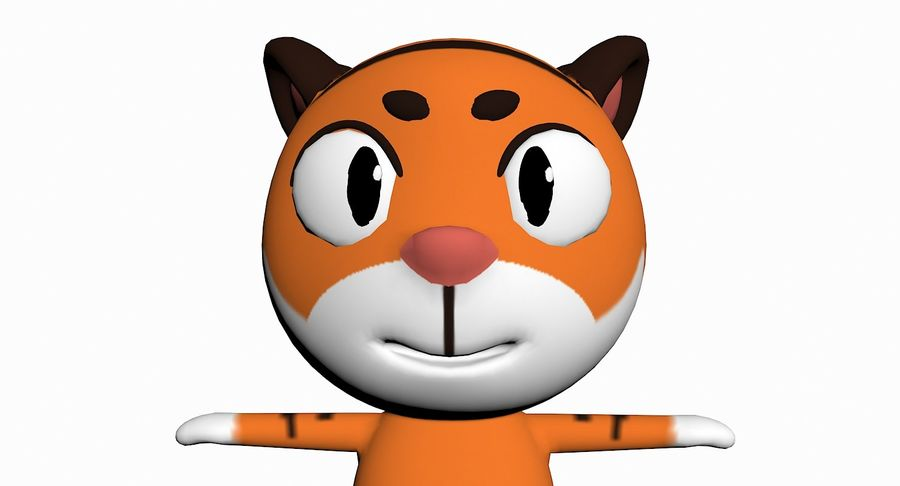 Cartoon Animal Character Pack royalty-free 3d model - Preview no. 94