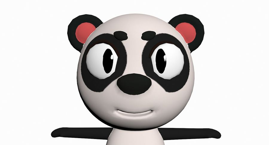 Cartoon Animal Character Pack royalty-free 3d model - Preview no. 78