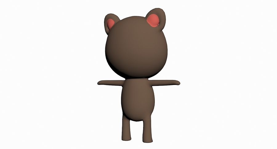 Cartoon Animal Character Pack royalty-free 3d model - Preview no. 21