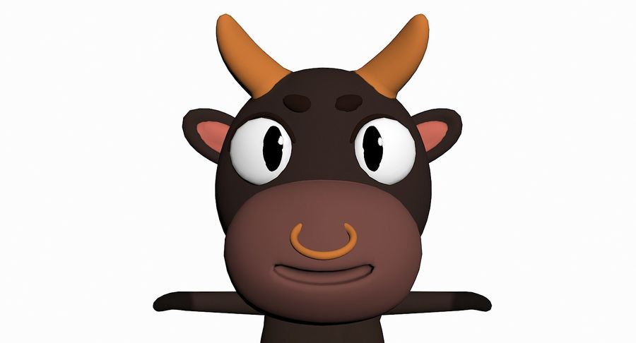 Cartoon Animal Character Pack royalty-free 3d model - Preview no. 14