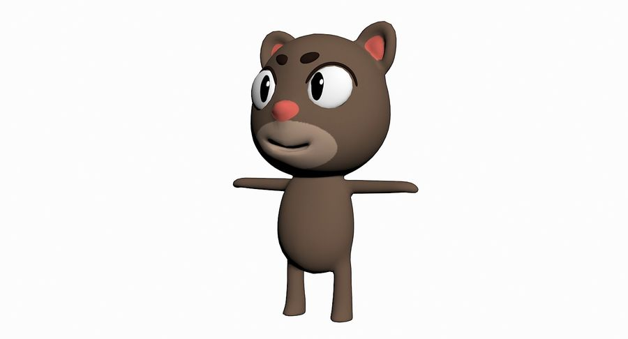 Cartoon Animal Character Pack royalty-free 3d model - Preview no. 19