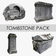 Pack pierre tombale 3d model