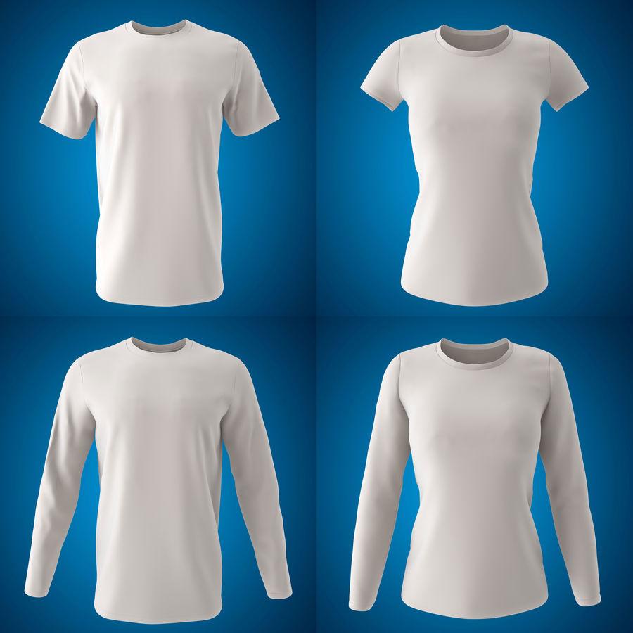 Model 3D T-shirt męski i okrągły royalty-free 3d model - Preview no. 1