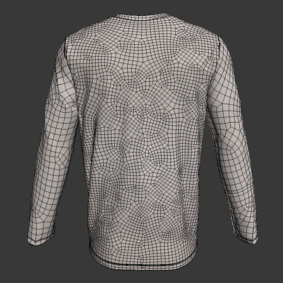 Model 3D T-shirt męski i okrągły royalty-free 3d model - Preview no. 4