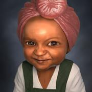 Ragazza del bambino del bambino 3d model