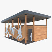 Offentligt utomhus toalett 3d model
