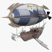 Fantasy Airship 3d model