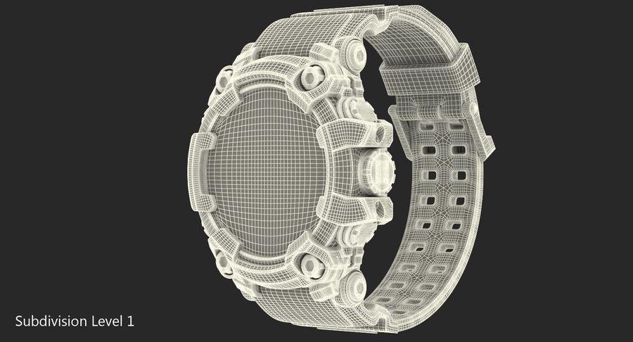 Водонепроницаемый Спорт Военные Часы Ударопрочный royalty-free 3d model - Preview no. 16