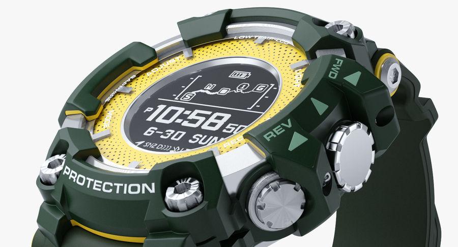 Водонепроницаемый Спорт Военные Часы Ударопрочный royalty-free 3d model - Preview no. 6