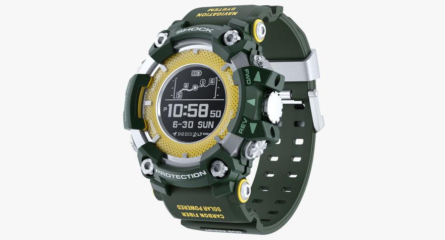 Водонепроницаемый Спорт Военные Часы Ударопрочный royalty-free 3d model - Preview no. 2
